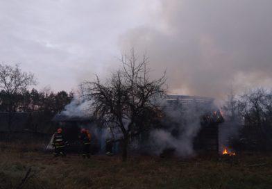 Пожар в деревне Зеленица Малоритского района (фото)