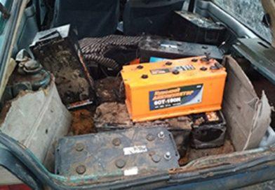 В Кобрине спаймали воров 13 аккумуляторных батарей