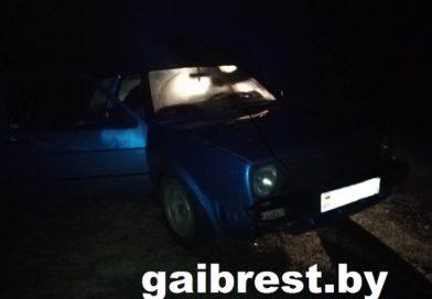 В Кобринском районе 16-летняя бесправница пыталась скрыться от ГАИ