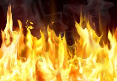 Пожар на улице Суворова в Бресте (видео)