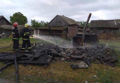 В Галевке сгорела хозпостройка (обновлено)