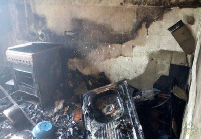 В Брестском районе на пожаре спасены 10 человек (видео)