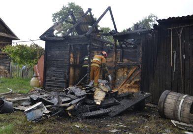 Загорелась хозпостройка в деревне Звозы (Малоритский район)