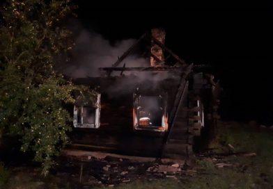 В Чернянах горел дом пенсионера (Малоритский район, обновлено)