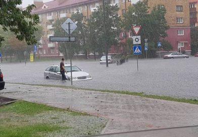 Ливневой паводок в Бресте 12 июля 2018 года (видео)