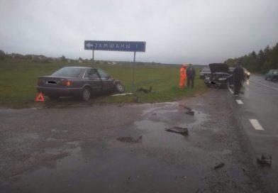 Авария около Замшан: по счастливой случайности никто не пострадал (Малоритский район)