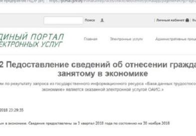 В Беларуси расширили перечень тех, кого не будут включать в базу данных не занятых в экономике