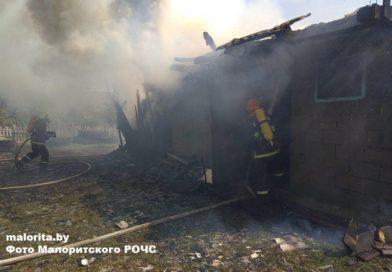 В Доропеевичах произошёл пожар на улице Новой  (Малоритский район)