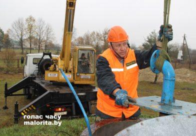 В Малоритском районе ведётся строительство очередной станции обезжелезивания воды
