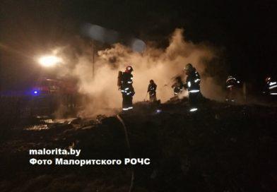 В деревне Масевичи сгорел дом (Малоритский район)