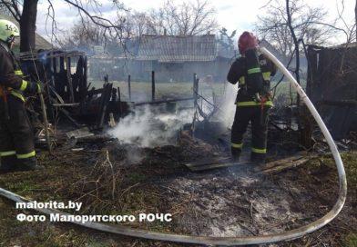Пожар в деревне Осовая (Малоритский район)
