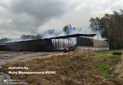 В Малоритском районе горело сенохранилище (видео)