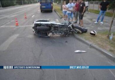 В Бресте травмирована пассажирка мотоцикла